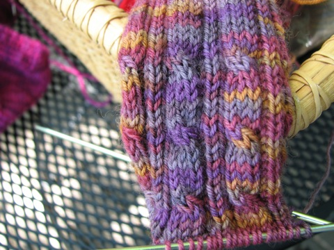 Cable Rib Cuff in Mother Lode