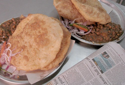 Soft chhole bhature to start your day with