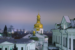 Pechersk Lavra Monastery, Nightfall in Kiev