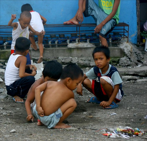 street children at play