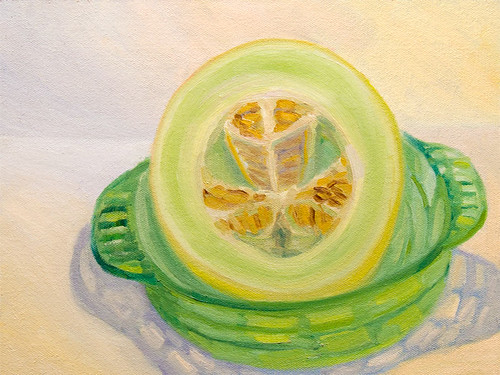 Honeydew melon in Oil