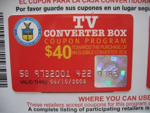 Too bad so few people actually got one of these converter box coupons