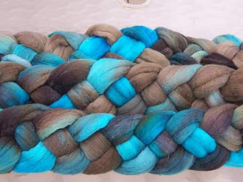 """""""Blue Steel"""" Hand dyed Rambouillet"""