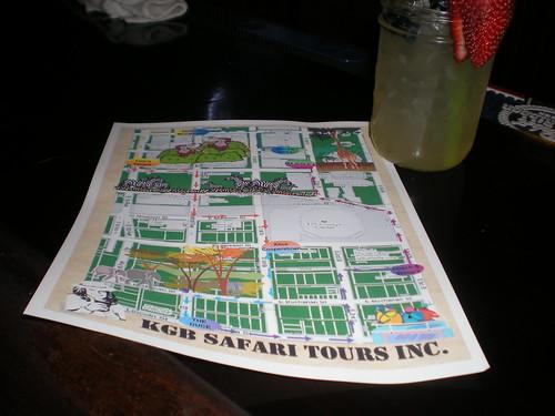Safari Pub Crawl Map
