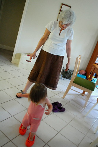 Shoes with grandma.