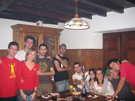 El grupo en la casa rural