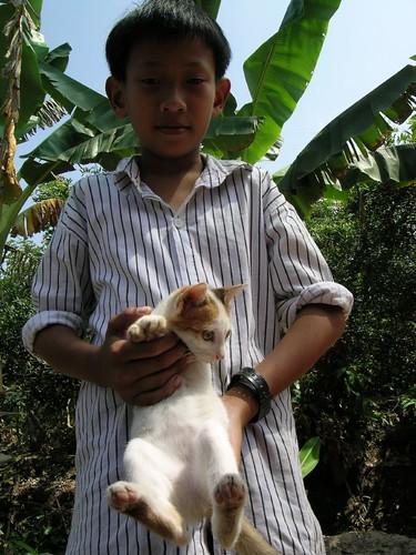 Kiddo and kitten