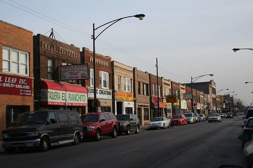 Clark Avenue commercial strip