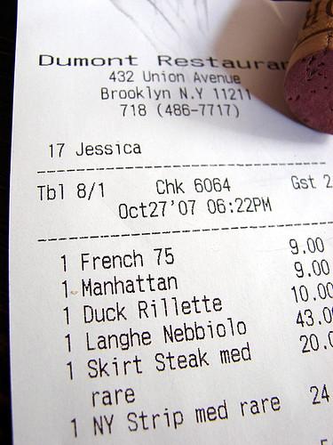 Dinner:  October 27, 2007