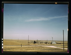 Farm land in Texas panhandle near Amarillo, Te...