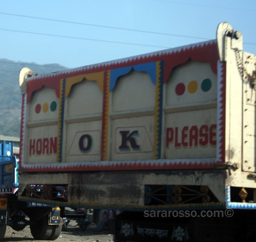 Horn Ok Please - the national trucker saying in India