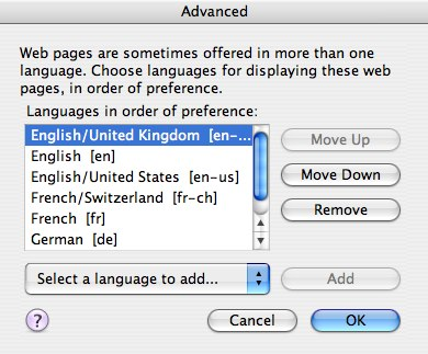 Language Prefs in Firefox