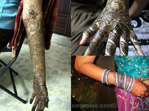 A bride in India and her mendhi hands