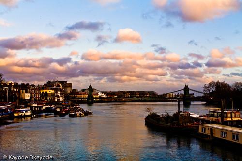Hammersmith Bridge Sunset