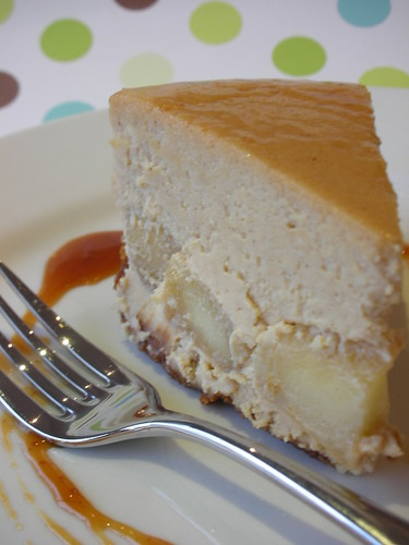 brown sugar-apple cheesecake