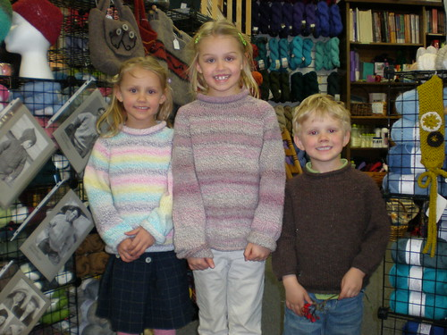 kids in sweaters