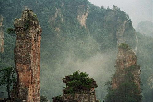 3000 pilares de roca en Wulingyuan  101 Lugares increbles