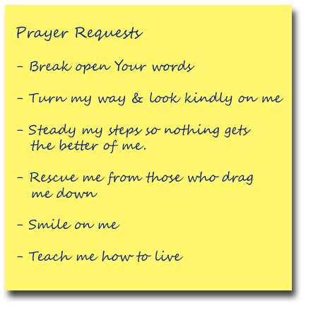 prayer-list---Psalm-119