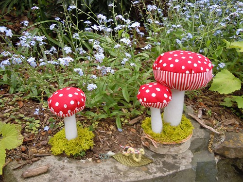 Plush mushrooms