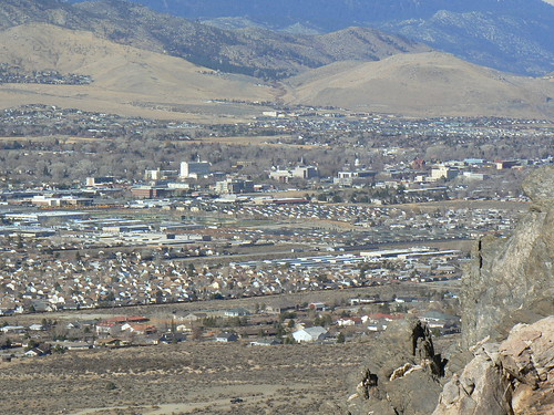 View from the top, overlooking Carson City