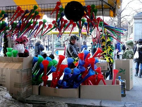 Noisemakers & souvenirs for sale