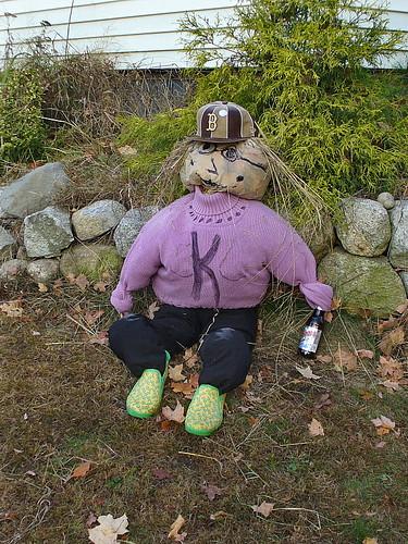 Sox-lovin' scarecrow