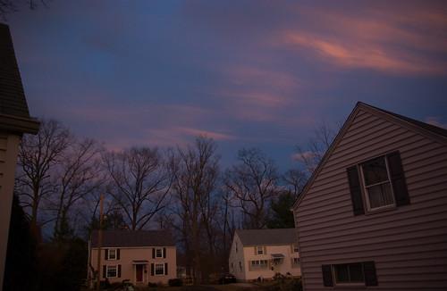 dusk-eastern sky