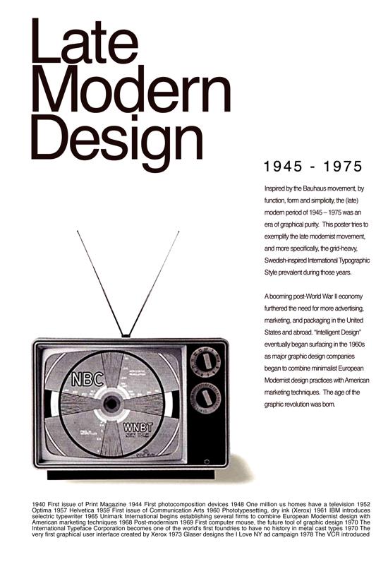 late modern design.