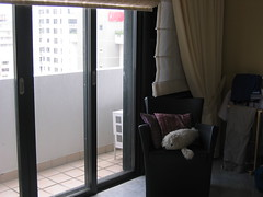 Small (only) balcony in the master bedroom