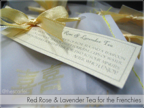 Red Rose & Lavender Tea for the Frenchies