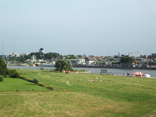 The view from the dike above my house looking toward Nijmegen.