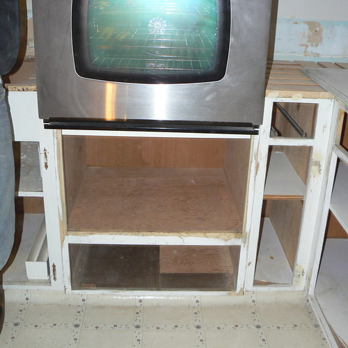 Sanding old cabinets