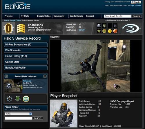My Halo 3 Service Record