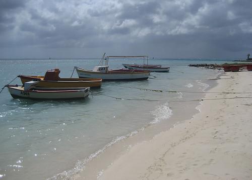 Wooden Boats In Oranjestad