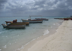 Wooden Boats In Oranjestad