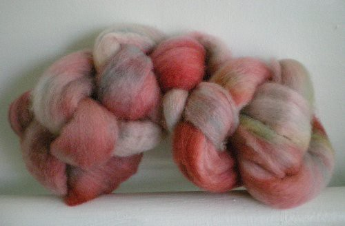 dyed bfl wool