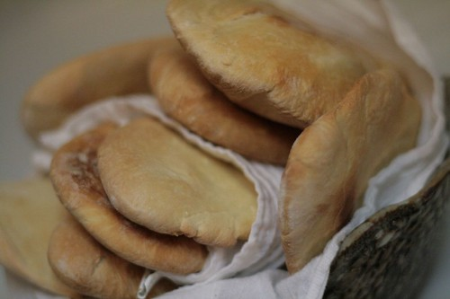 Gorgeous freshly baked pita bread