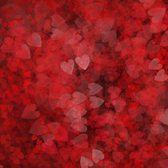 Dark Heart Petals Background