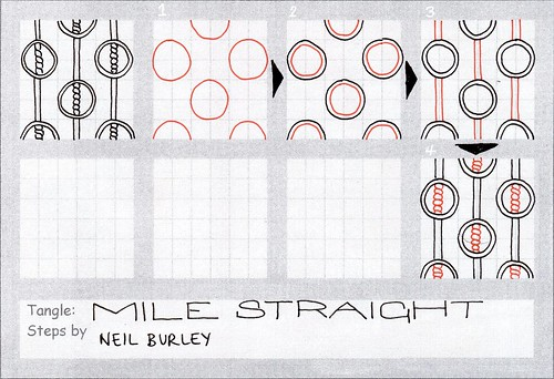 Mile Straight - tangle pattern by perfectly4med