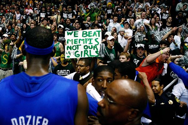Memphis Commercial Appeal Photo of Fans after UAB vs Memphis Game