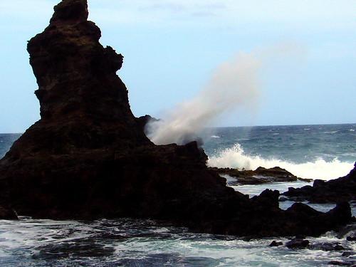Blowhole on North Shore Maui