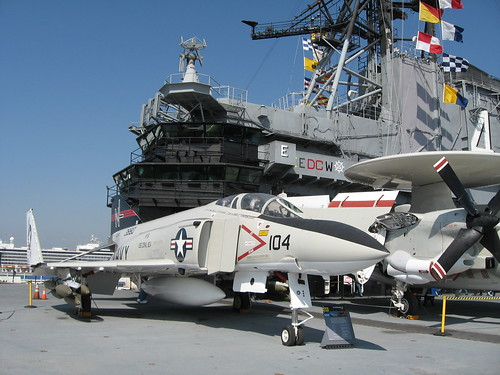 F-4 Phantom and E-2 Hawkeye
