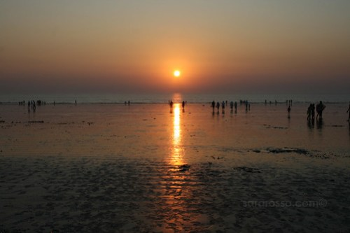 Sunset at Dandi Beach, outside Navsari, Gujarat India