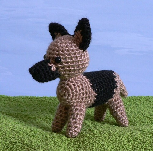crocheted german shepherd