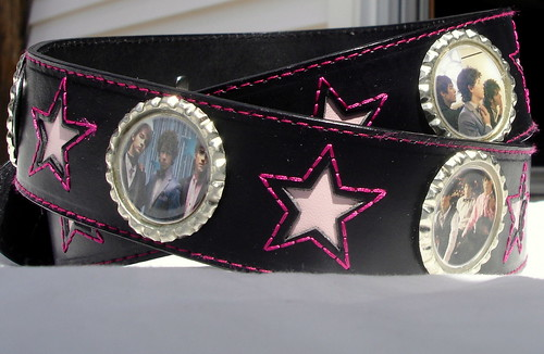 Jonas Brothers Prom Photos Bottle cap leather belt