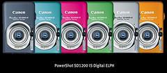 PowerShot SD1200 IS Digital ELPH lineup