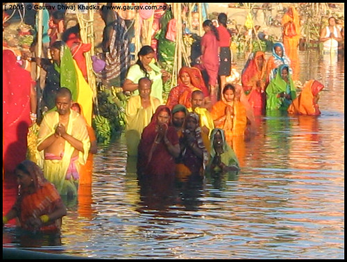 The Holy bath by Gaurav Dhwaj Khadka