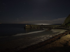 Gorran Haven beach at night
