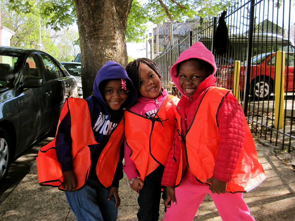 Kids at the Philly Spring Cleanup