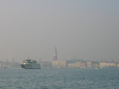 Venice seen from the Lido, Italy